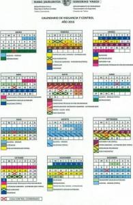 Calendario de Vigilancia y Control 2016